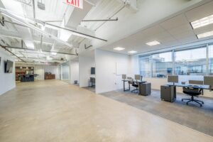 St. Paul Place - Suite 550 Large office area with separate cubbies for business.